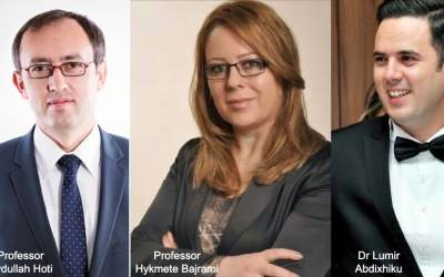 A trio of ex-Staffordshire University students are now helping to run the Kosovo government