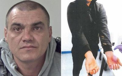 A Romanian people smuggler who doused three Albanians in bleach in a bid to avoid detection has been jailed