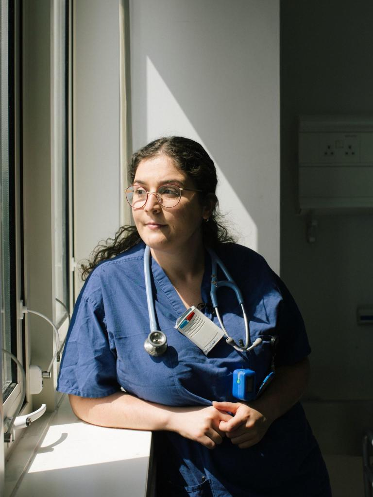 25-year-old Anxhela Gradeci is a junior doctor working on a covid ward in a North London hospital. She could have never predicted that her first year on the job would be during a global pandemic.