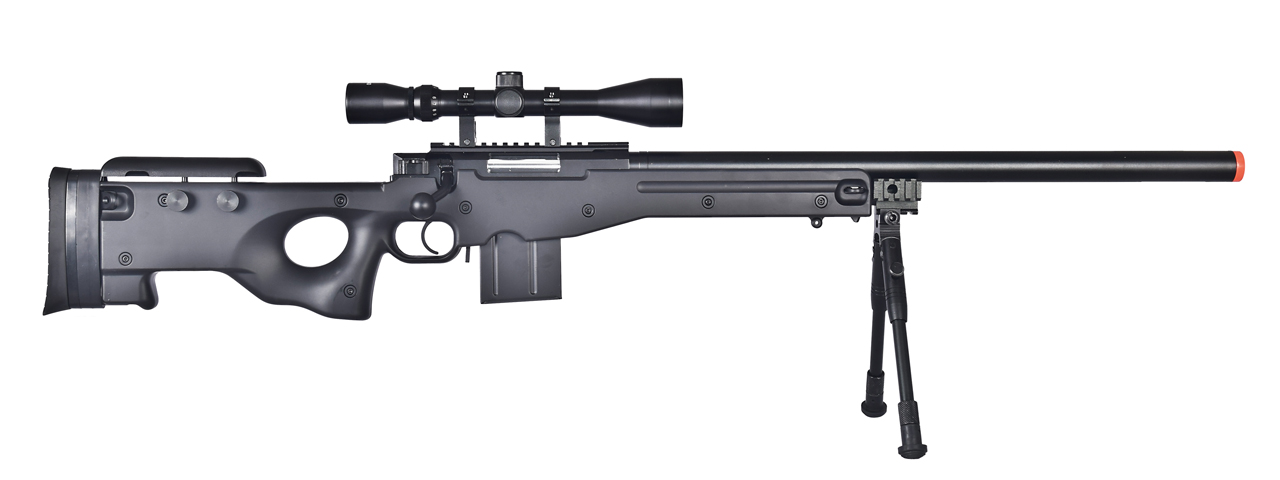 WELL AIRSOFT L96 AWS BOLT ACTION RIFLE W/ BIPOD AND SCOPE