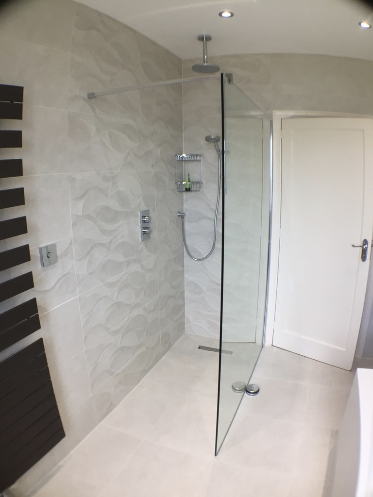 Tiling a Wetroom Tray With Large Tiles  Uk Bathroom Guru