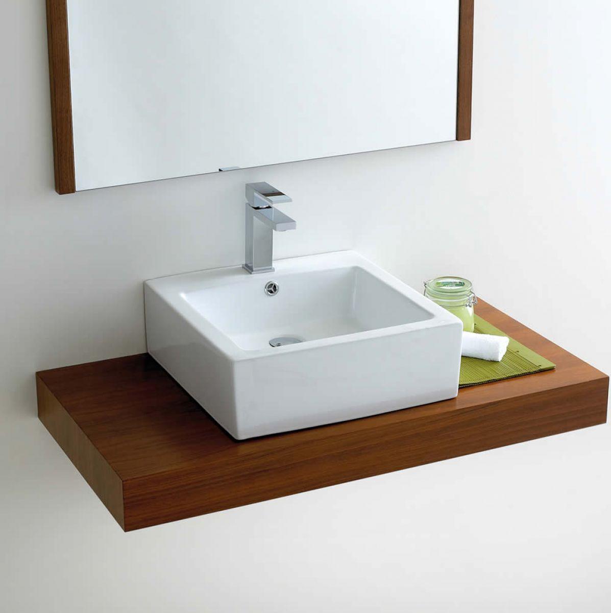 Phoenix Deep Square Counter Top Bathroom Basin VB039  UK Bathrooms
