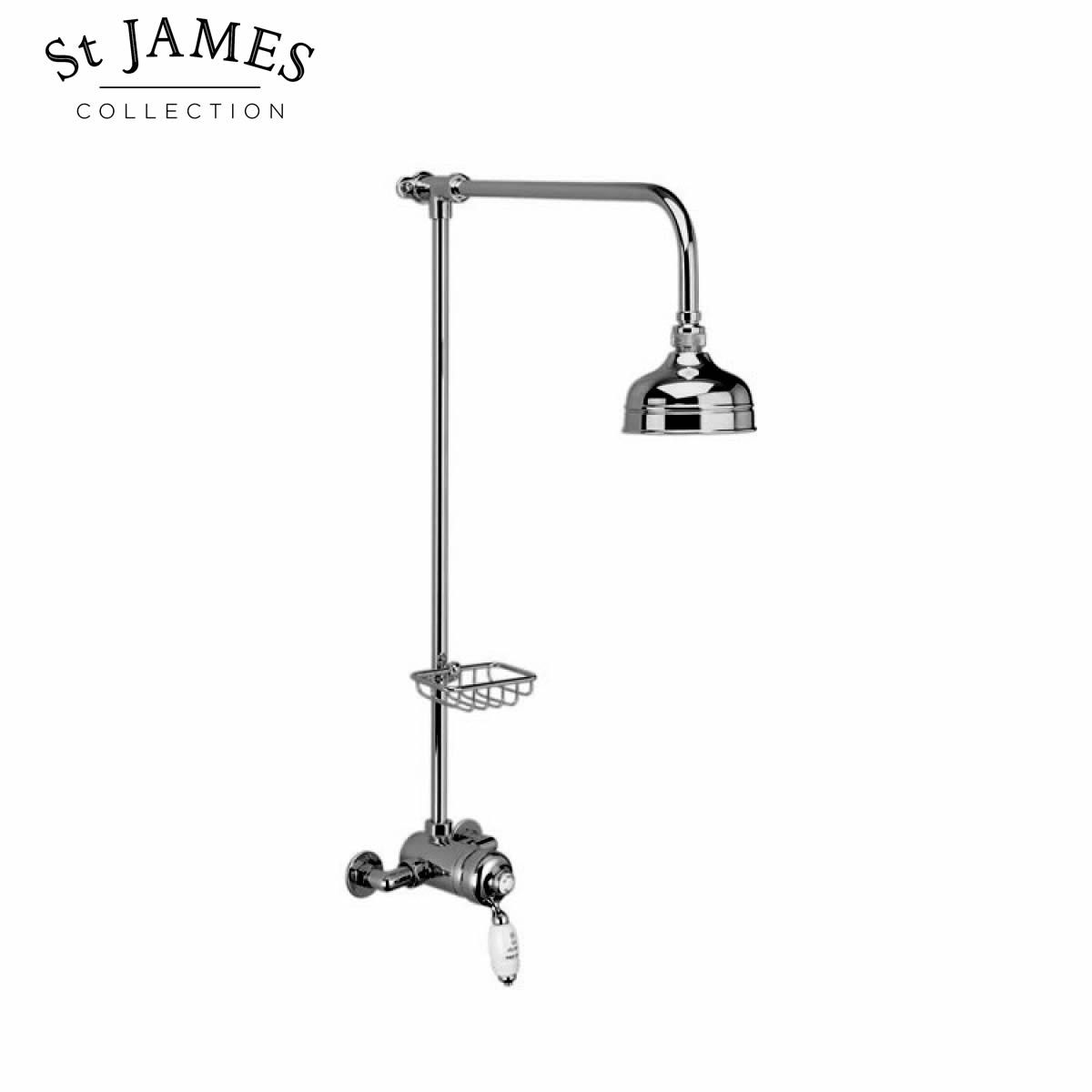 St James Exposed Manual Shower Valve with Riser Rail and