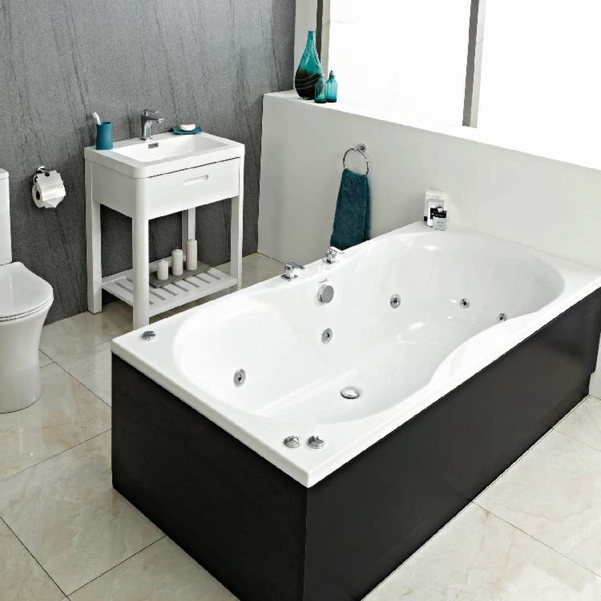 Whirlpool Baths Standard Widths  Extra Wide  UK Bathrooms
