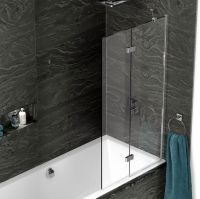 Kudos Inspire 2 Panel In-Fold Bath Screen : UK Bathrooms