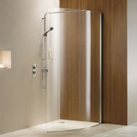 Matki Curved Wet Room Shower Panel : UK Bathrooms