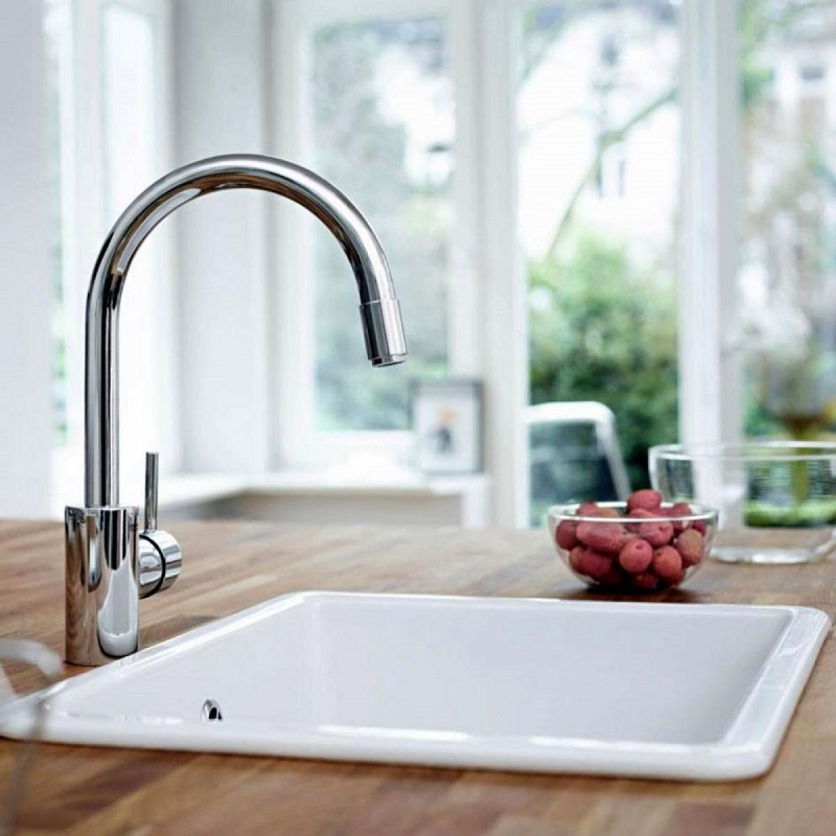 grohe concetto kitchen faucet tops wood mixer with pull out spray uk bathrooms