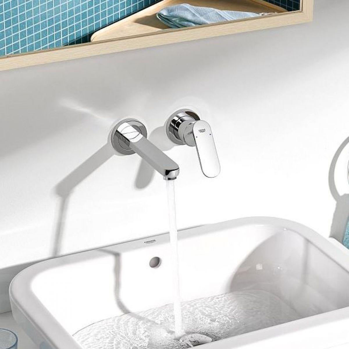 grohe eurosmart cosmopolitan wall mounted basin tap
