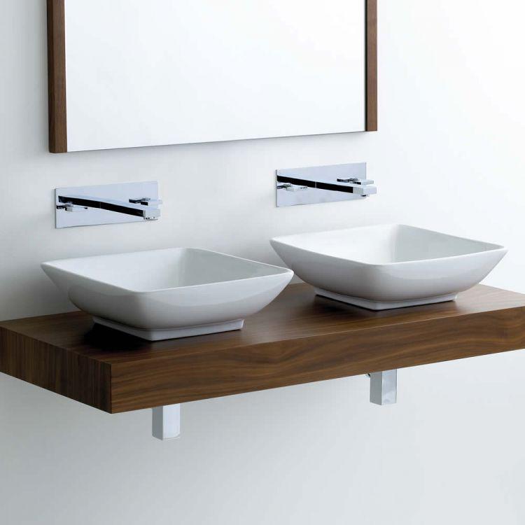 Bathroom sinks Including Counter Top  SemiRecessed  UK Bathrooms
