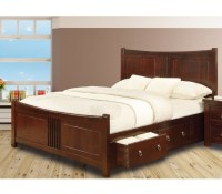 Sweet Dreams Curlew Wild Cherry 5ft King Size Wooden Bed ...