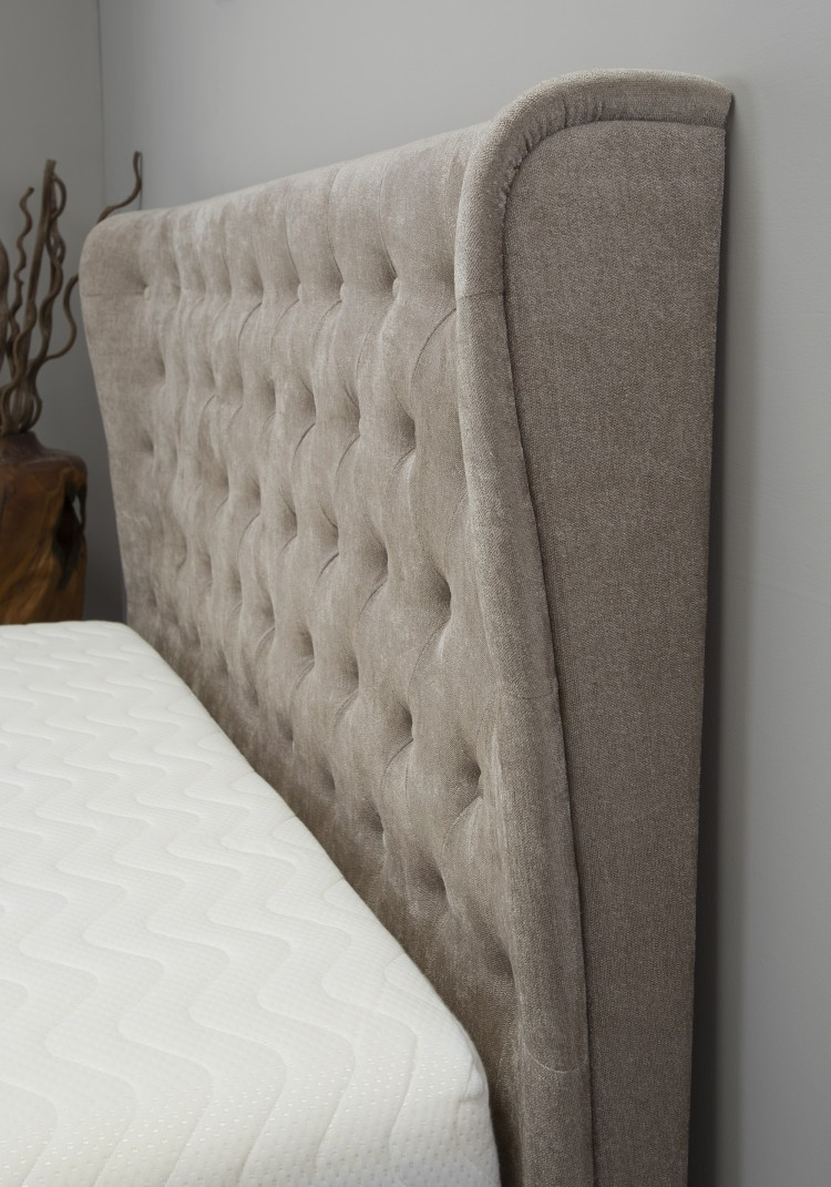chairs for the end of your bed stool chair amazon emporia kensington 4ft6 double stone fabric ottoman by beds