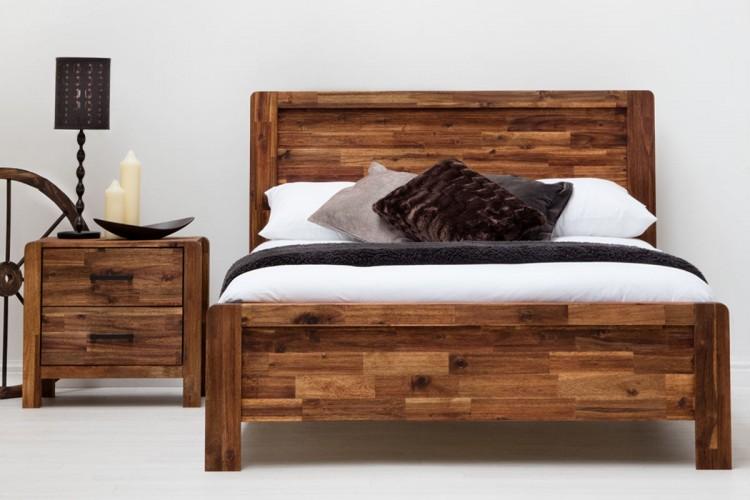sleep design chester 5ft kingsize rustic wooden bed frame