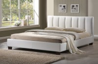 Limelight Pulsar White 4ft Small Double Faux Leather Bed ...