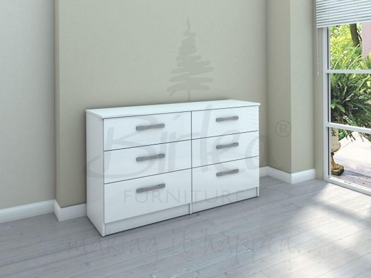 Low White Chest Drawers