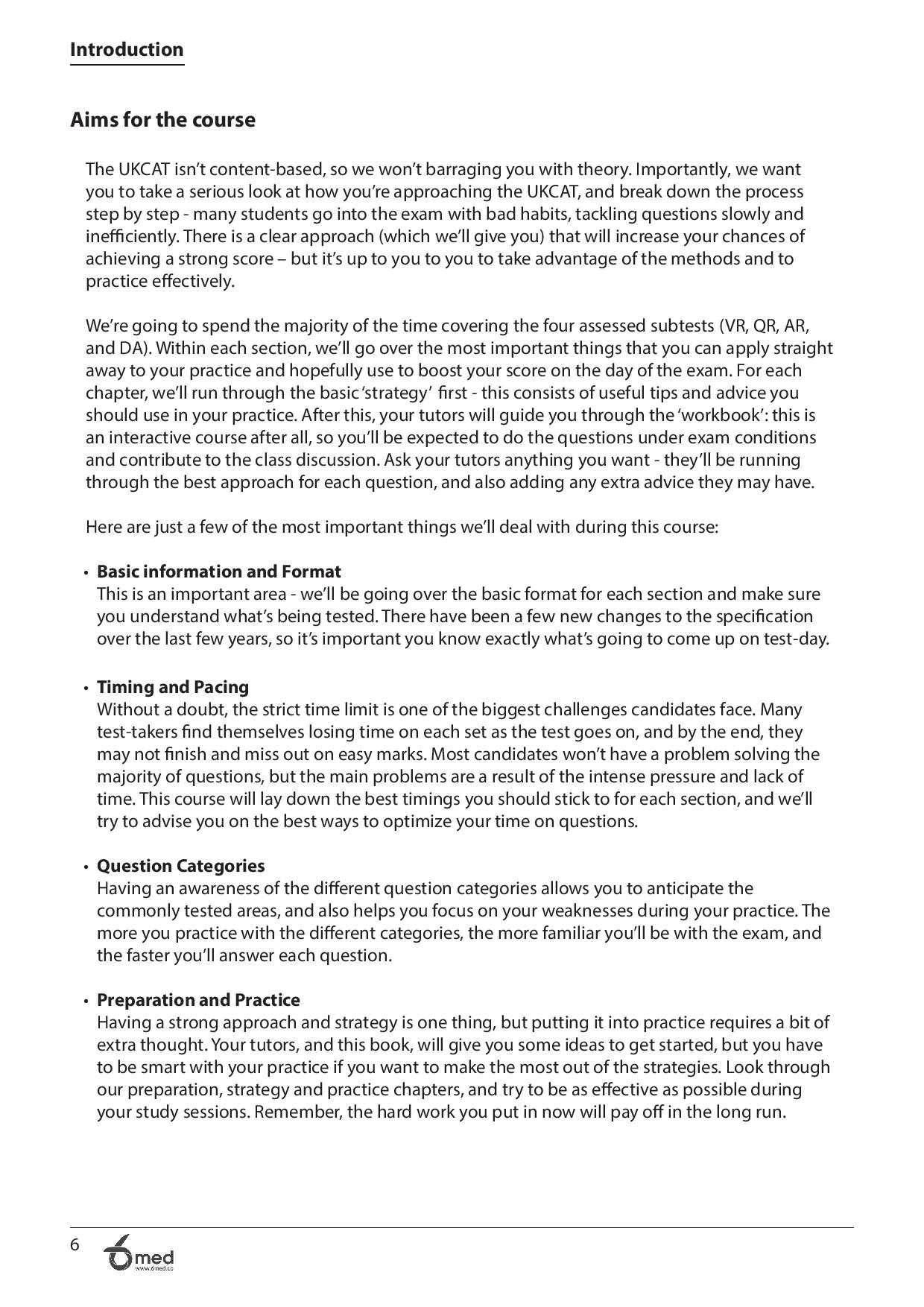 UKCAT Crash Course Handbook page 5
