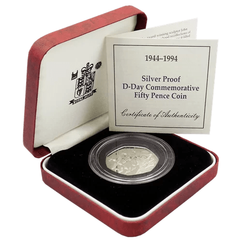 D-Day 50p silver proof
