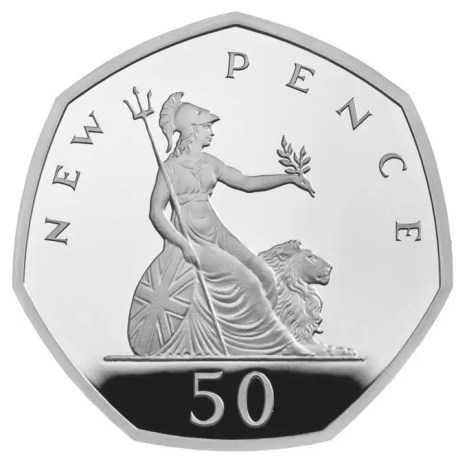 fifty new pence 50p silver proof 2019
