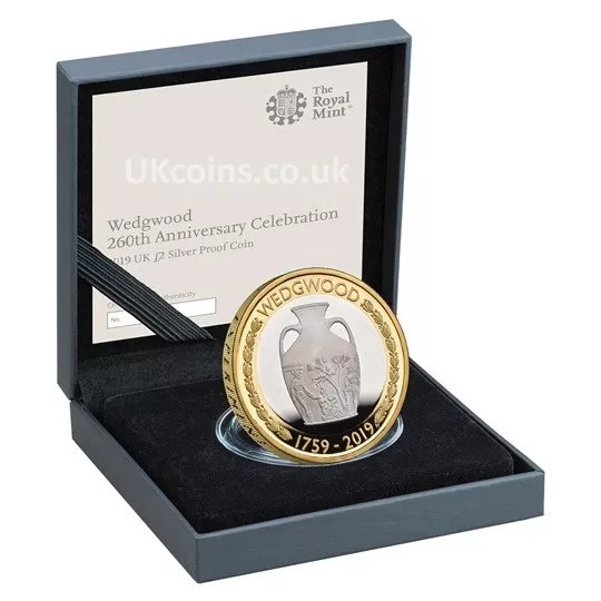 wedgwood silver proof coin