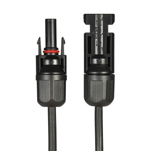 1 Pair Feet Black + 10 Feet Red 10AWG Solar Panel Extension Cable Wire with MC4 Female and Male Connector