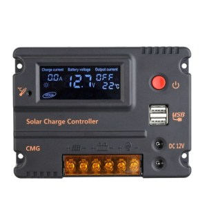 10A 12V 24V LCD Solar Charge Controller Panel Battery Regulator Auto Switch Overload Protection Temperature Compensation
