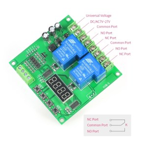 12V/24V 2-Channel Motor Driver Shield Board 30A LED Relay Module for Arduino Raspberry Pi