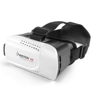 Insten Black/ White Virtual Reality Glasses VR Headset with Adjustable Head Band for 4.7 to 6-inch Android/ iOS Smartphone