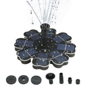 "195mm/7.68"" Solar Power Fountain Flower-shape Solar Panel Energy-saving Water Pump"
