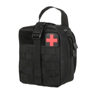 Outdoor Medical First Aid Pouch MOLLE System Utility Bag with First Aid Patch