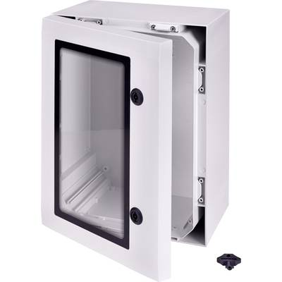 Fibox ARCA 403021W Wall-mount enclosure, Fitting bracket 400 x 300 x 210 Polycarbonate (PC) Grey-white (RAL 7035) 1 pc(s)