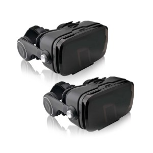VR-EYE Plus Virtual Reality Headset With Integrated Audio and Bluetooth Control Twin Pack