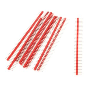 10PCS 2.54mm 40Pin Male Single Row Pin Header Strip for Arduino DIY