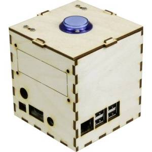Joy-it Talking Pi Maker-Case SBC housing Compatible with: Raspberry Pi Wood