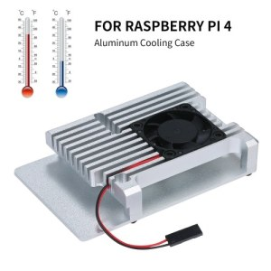 Aluminum Alloy Case for Raspberry Pi 4 Metal Enclosure Protective Shell with Cooling Fan Raspberry Pi Armor Case Sliver