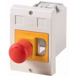 Eaton E-PKZ01-PVT Enclosure Recess mount, + kill switch (L x W x H) 80 x 85 x 129 mm Grey, Red, Yellow 1 pc(s)