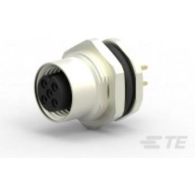 TE Connectivity T4141012051-000 Sensor/actuator built-in connector M12 Socket, built-in No. of pins (RJ): 5 1 pc(s)
