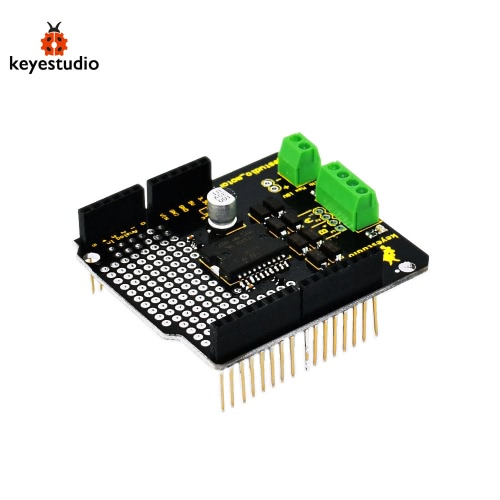 Brand New L298P 2A Module Keyestudio Large Current Dual DC Motor Driver Shield Board Compatible for Arduino