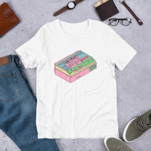 80S Trash Vcr T-Shirt - Toploader Printed On Demand Video Tape Vhs Recorder Technology Retro Tech 1980S Pastels