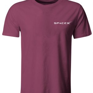 Spacex Left Chest Dragon Back T-Shirt in 3 Colours Blue, White & Red - Falcon 9 Space Exploration Technologies Nasa