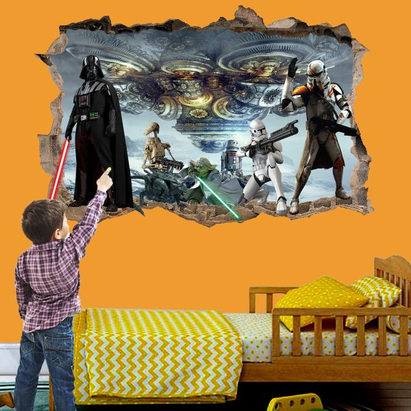 Star Troopers Robots Spaceship Wall Sticker Art Poster Mural Transfer Decal Print Room Home Nursery Office Shop Decor Id548