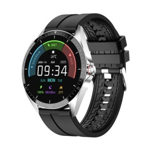 1.28 Inch Smart Watch Fitness Tracker with Body & Ambient Temperature Monitor IP67 Waterproof Sport Watch with Multiple Sport Modes Calorie Counter Full Touch Screen Watch with Silicone Strap