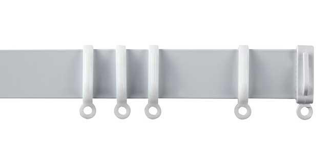 speedy streamline aluminium curtain track 360cm white