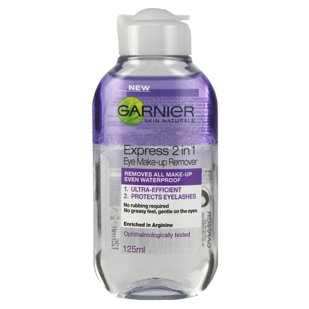 Garnier Express 2 in 1 Eye Make-up Remover 125 ml - UK ...
