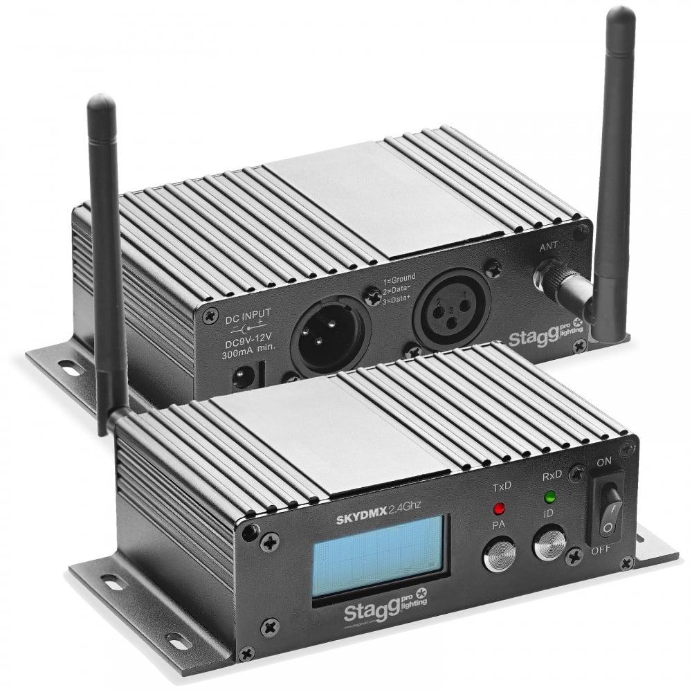 medium resolution of stagg dj sli skydmx2 4 air wireless wifi reciever d fi dmx transmitter control hub