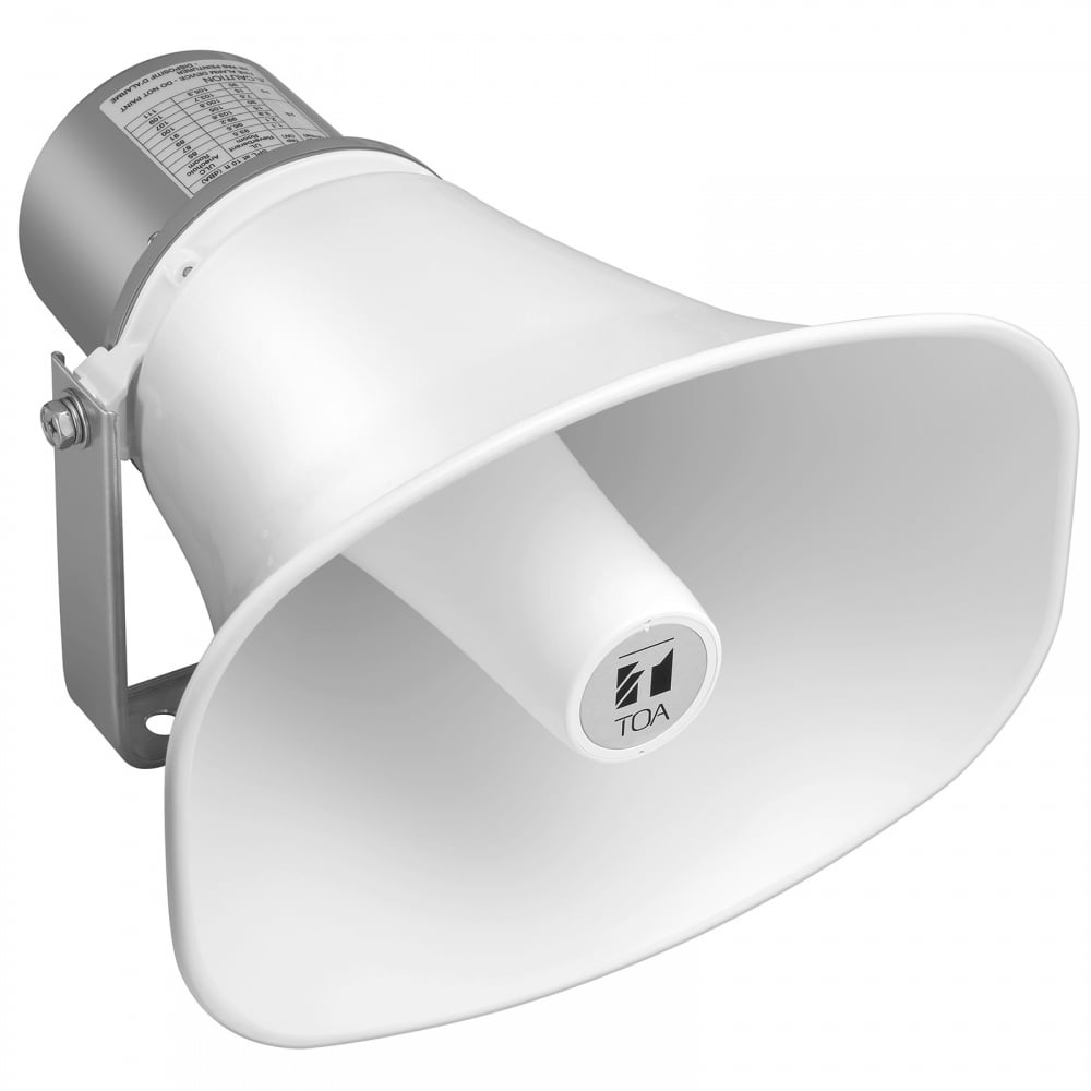 hight resolution of toa paging horn speaker 15w rms 8ohm ip65 outdoor rated