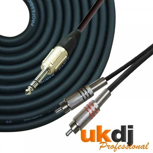 small resolution of ukdj 3m 6 35mm 1 4 inch jack stereo to 2 x rca phono cable audio lead hq