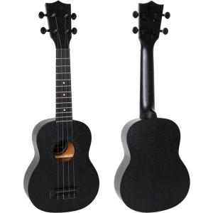 Flight NUS310BB Soprano Ukulele Blackbird Free Shipping with front back image