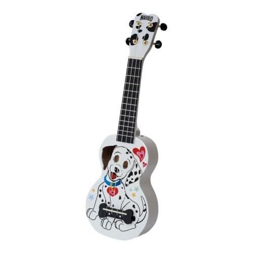 Mahalo Soprano Ukulele Dalmatian With Bag