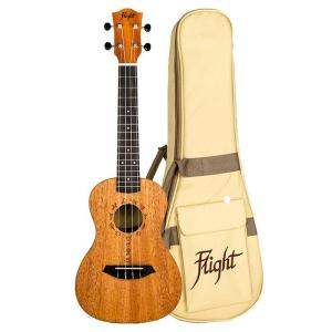 Flight DUC373 Concert Ukulele African Mahogany With Bag