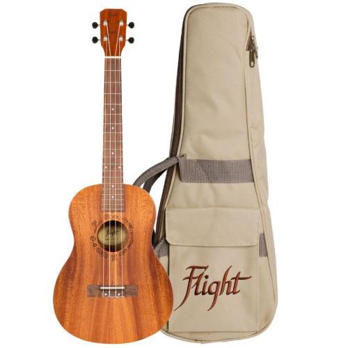 Flight NUB310 Sapele Baritone Ukulele With Bag