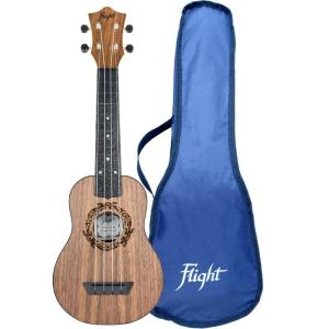 Flight TUS50 ABS Travel Soprano Ukulele Walnut Free Shipping